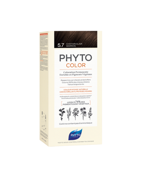 PHYTO-PHYTOCOLOR BOX 5.7+PHYTOCOLOR 5.7CASTANO CHIARO MARRONE
